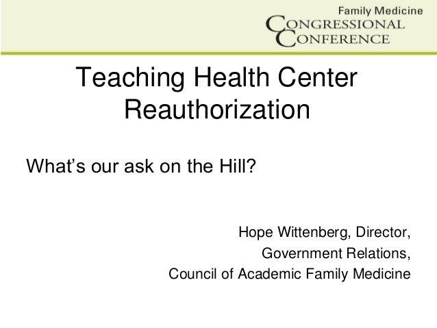 FMCC Teaching Health Centers Presentaion
