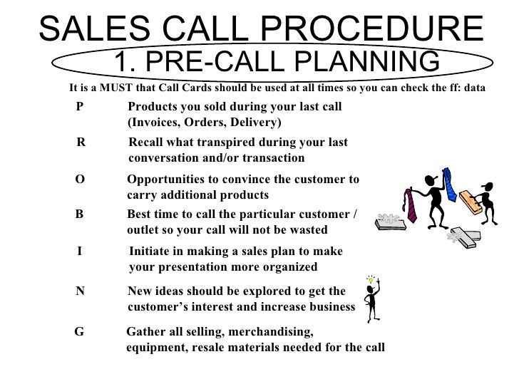 Fmcg training modules bfg for Sales call cycle template