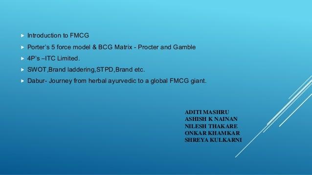 ADITI MASHRU ASHISH K NAINAN NILESH THAKARE ONKAR KHAMKAR SHREYA KULKARNI  Introduction to FMCG  Porter's 5 force model ...