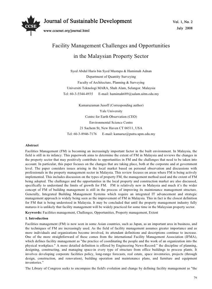 Fm challance and opportunity in malaysia