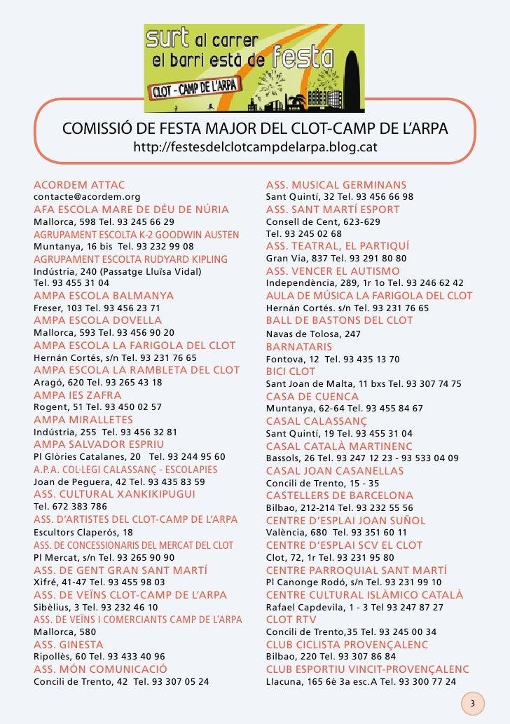 COMISSIÓ DE FESTA MAJOR DEL CLOT-CAMP DE L'ARPA                         http://festesdelclotcampdelarpa.blog.catACORDEM AT...