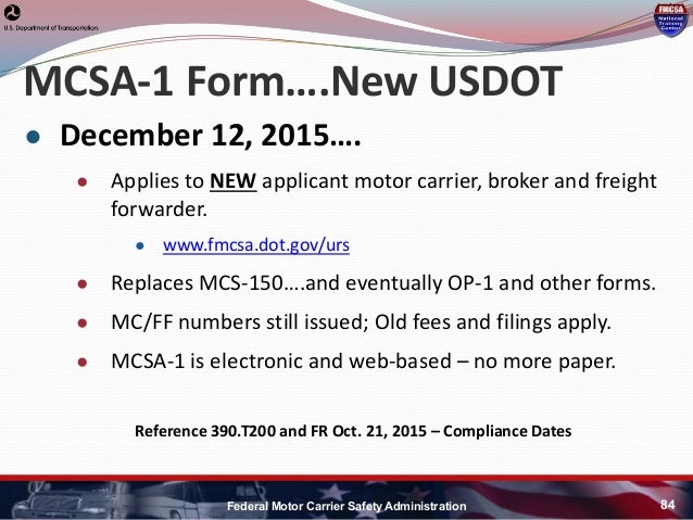 Hni u fmcsa update for How to obtain a motor carrier number