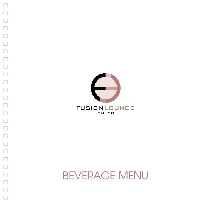 Fusion Lounge HA -  Beverage menu