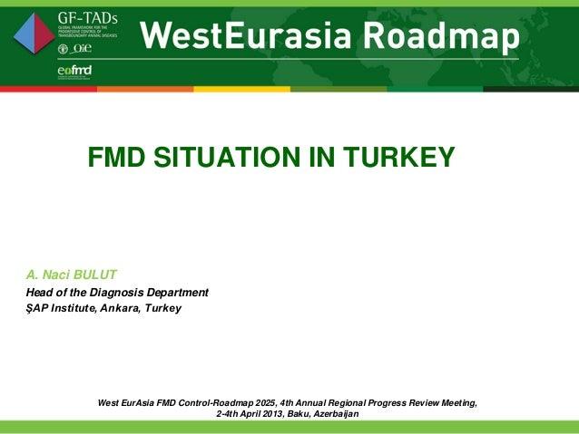 FMD SITUATION IN TURKEYA. Naci BULUTHead of the Diagnosis DepartmentŞAP Institute, Ankara, Turkey            West EurAsia ...