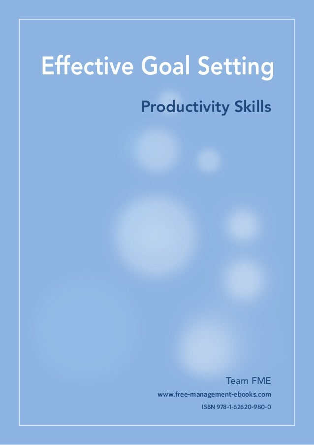 Effective Goal Setting for Managers