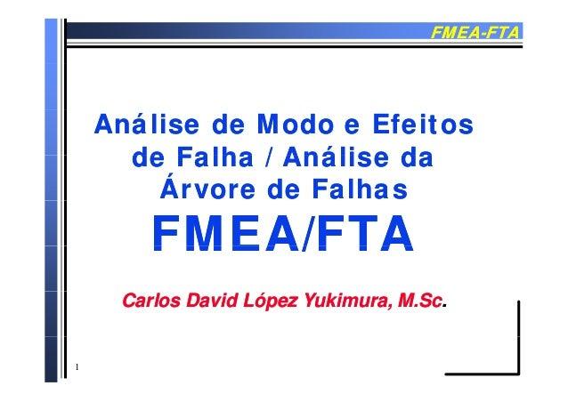 FMEAFMEA--FTAFTA Análise de Modo e EfeitosAnálise de Modo e Efeitos de Falha / Análise dade Falha / Análise dade Falha / A...