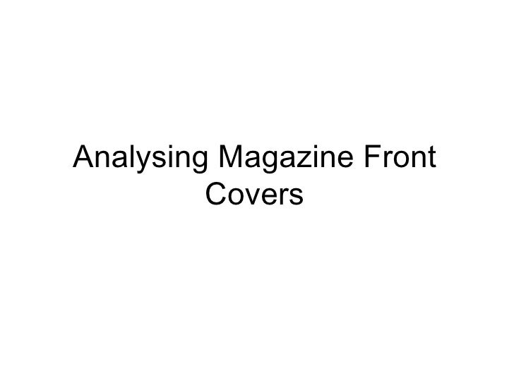 Analysing Magazine Front Covers