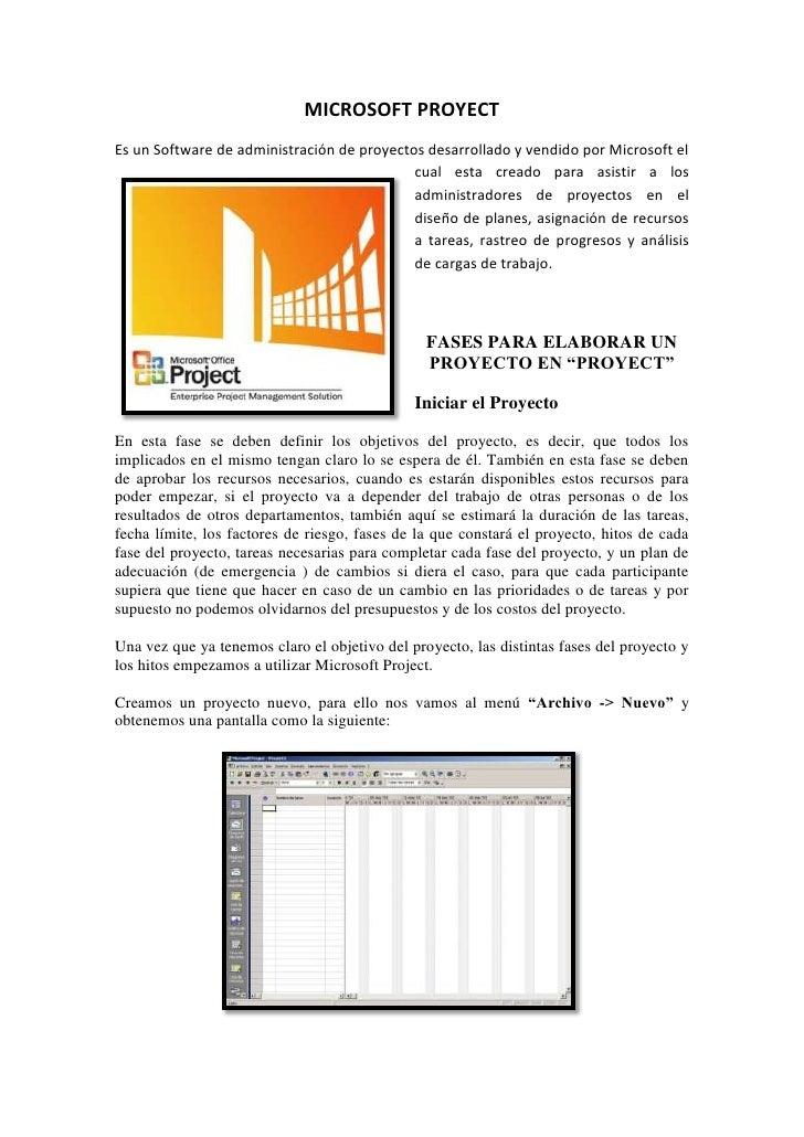 MICROSOFT PROYECT<br />95250393065Es un Software de administración de proyectos desarrollado y vendido por Microsoft el cu...