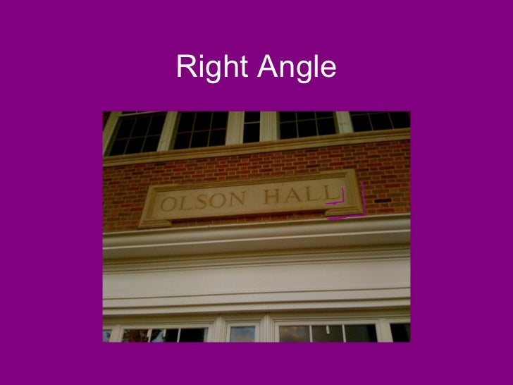 Real Life Example Right Angle : Angles in real life