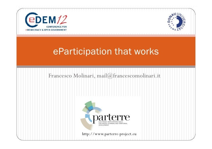 eParticipation that works