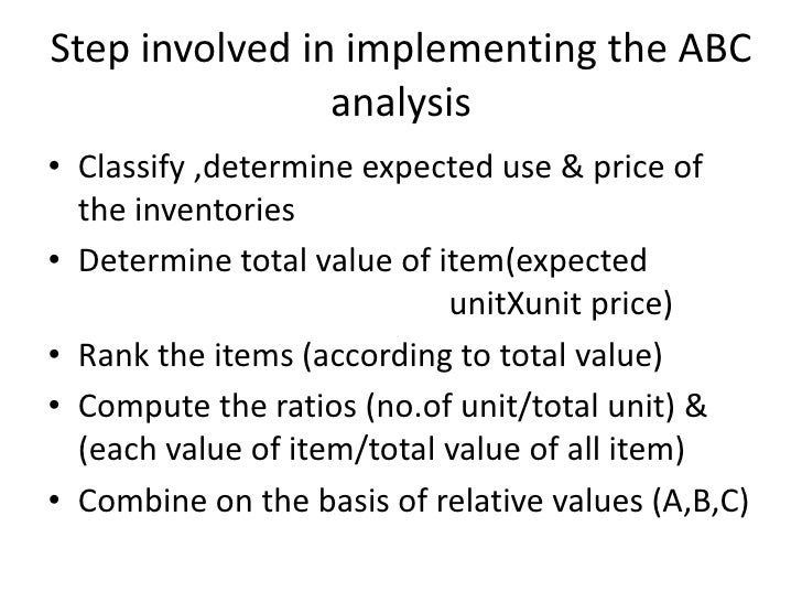 Advantages and Disadvantages of ABC Analysis Inventory