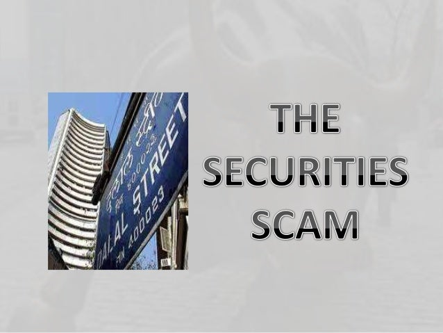 OVERVIEW OF THE SCAM This scam can be categorized as a Capital Market scam in which it is done by manipulating the facts i...