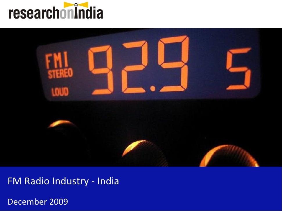 FM Radio Broadcasting Industry - India - Sample