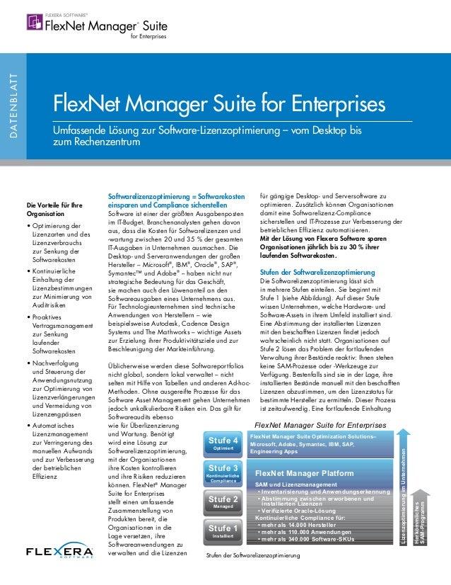 FlexNet Manager Suite for Enterprises Datasheet