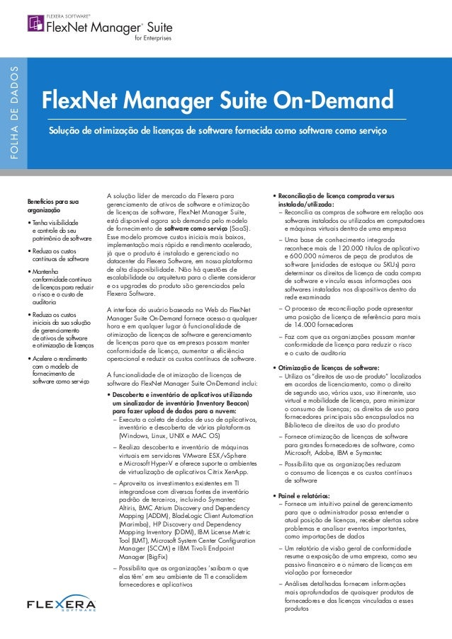 FlexNet Manager Suite On-Demand Datasheet