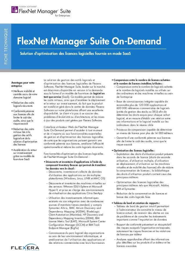 FlexNet Manager Suite On-Demand