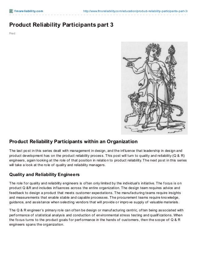 Product Reliability Participants part 3