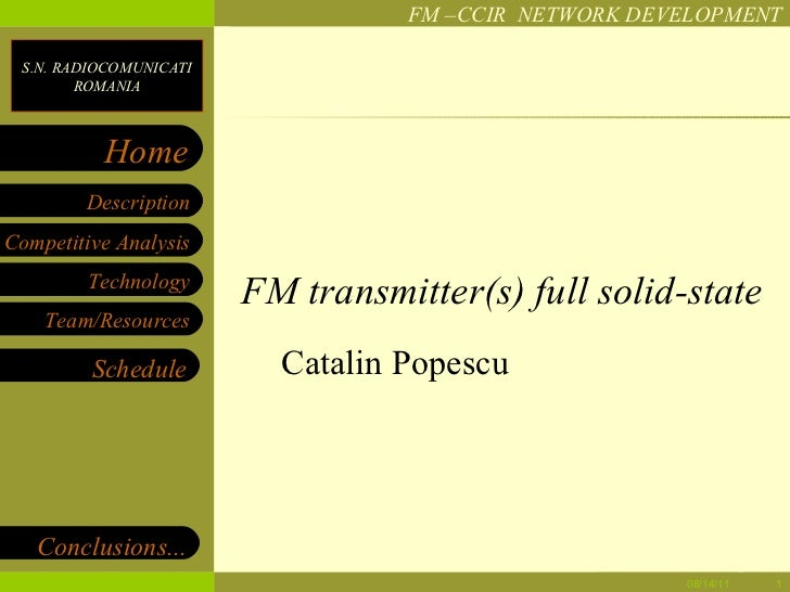 FM transmitter(s) full solid-state Catalin Popescu