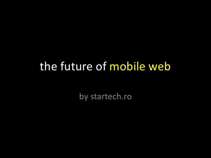 future of mobile web