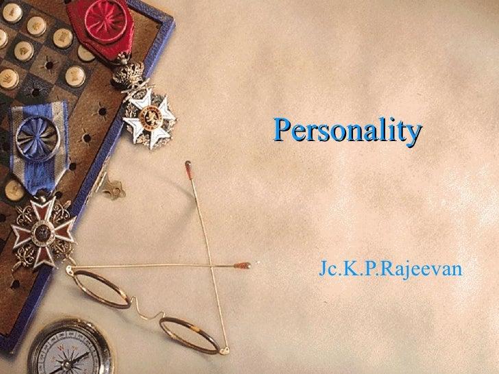 Personality Jc.K.P.Rajeevan