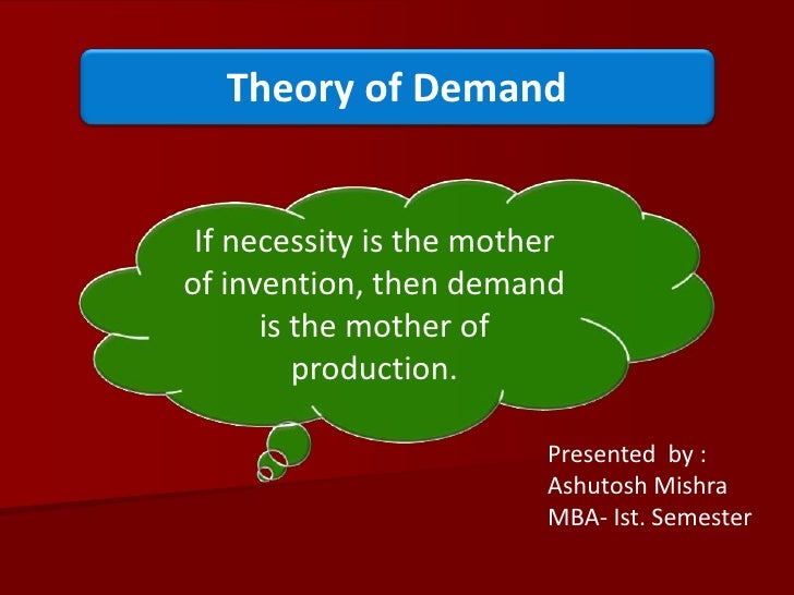 Demand Theory-Managerial Economics
