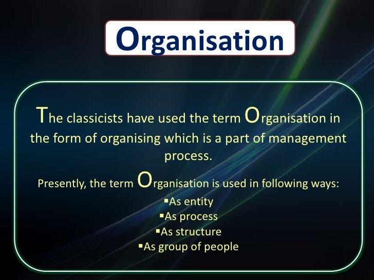 Organization Structure & Details