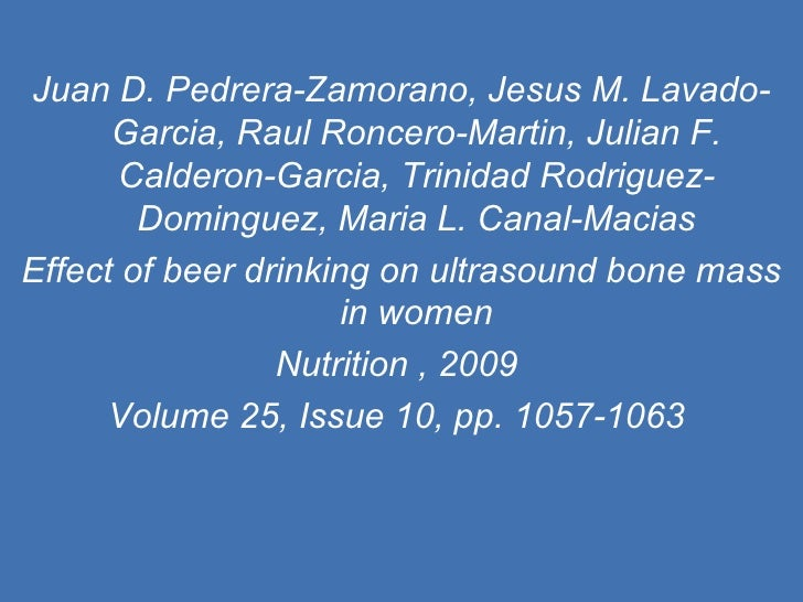Juan D. Pedrera-Zamorano, Jesus M. Lavado-Garcia, Raul Roncero-Martin, Julian F. Calderon-Garcia, Trinidad Rodriguez-Domin...
