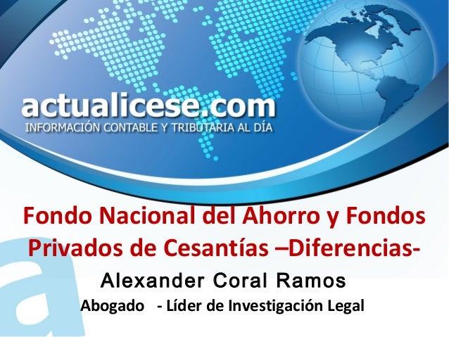 Fna y fondos privados diferencias 2013