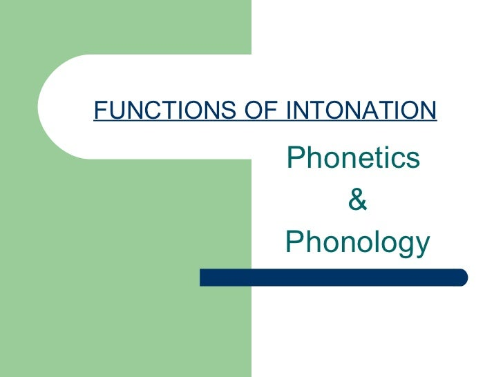 Fnctions Of Intonation