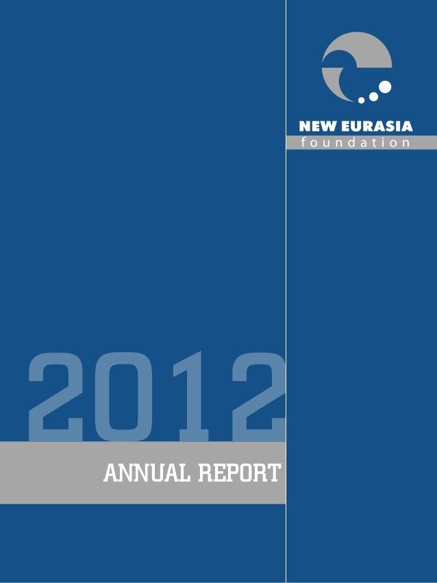 New Eurasia Foundation Annual Report 2012