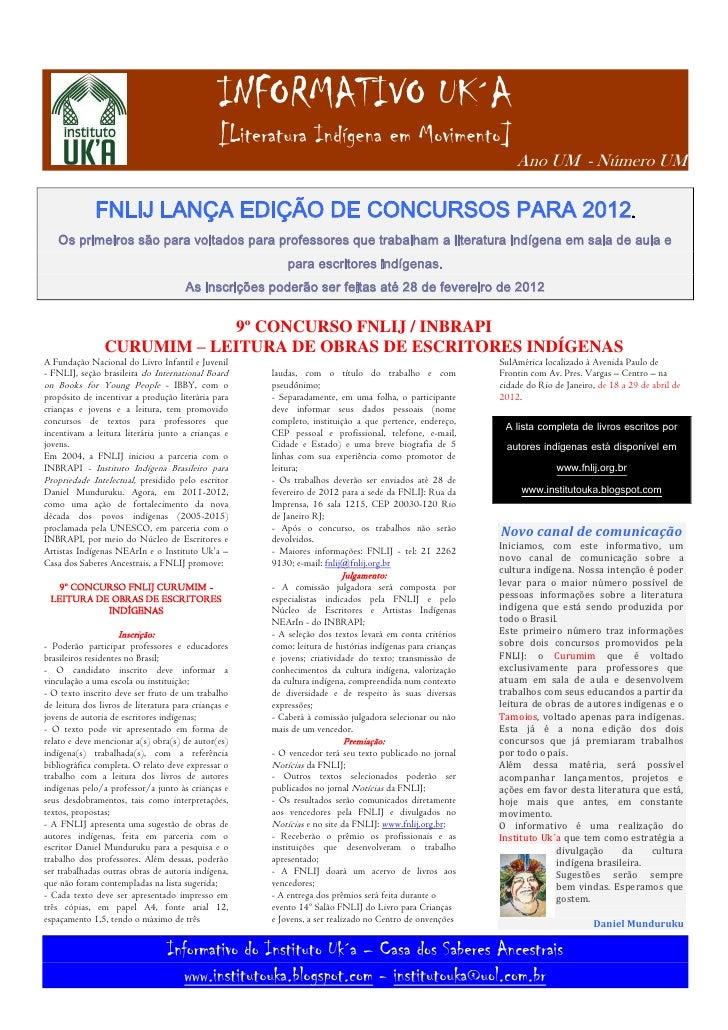 Fnlij lança edição de concursos para 2012