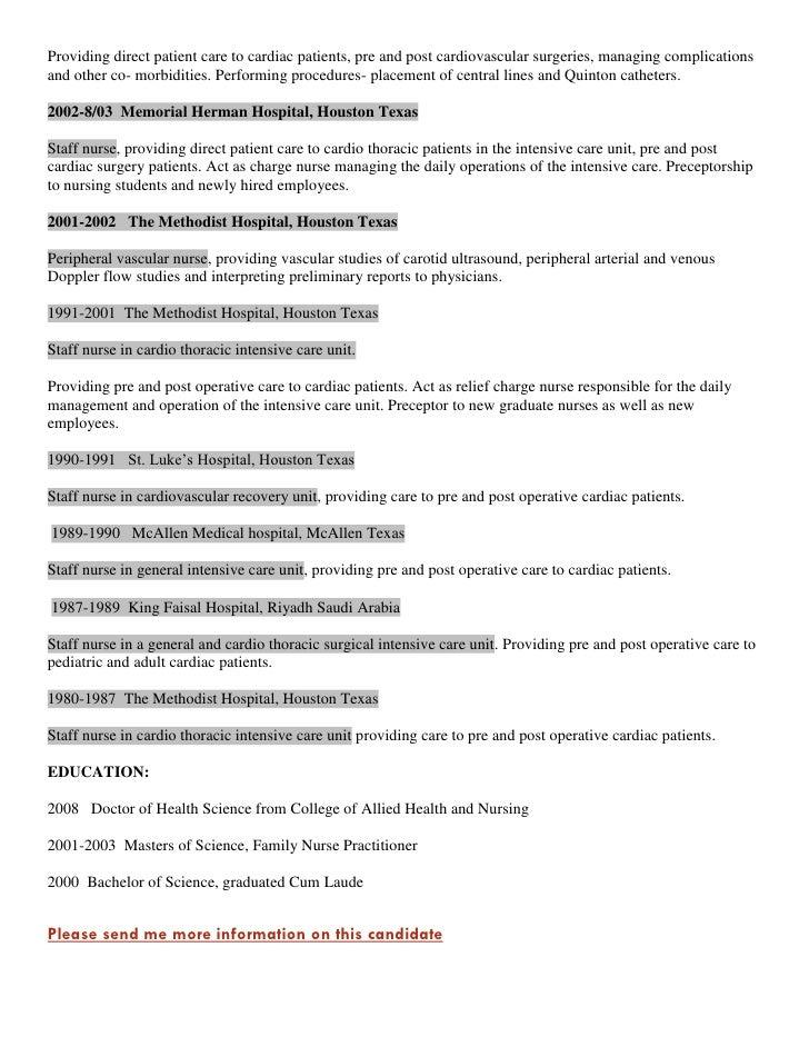 fnp ccrn icu resume cv