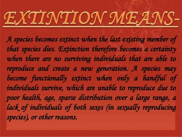preventing a species from extinction essay What is a species what exactly is an endangered species what is an extinct  species how have these species come to the point of becoming endangered or .