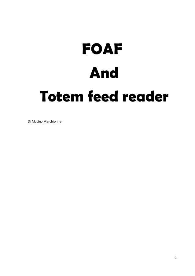 Matteo Marchionne: Foaf e feed reader
