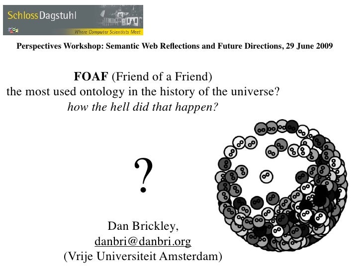 Perspectives Workshop: Semantic Web Reflections and Future Directions, 29 June 2009                FOAF (Friend of a Friend...