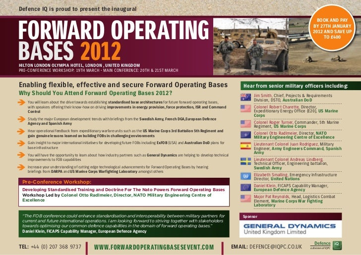 Forward Operating Bases 2012