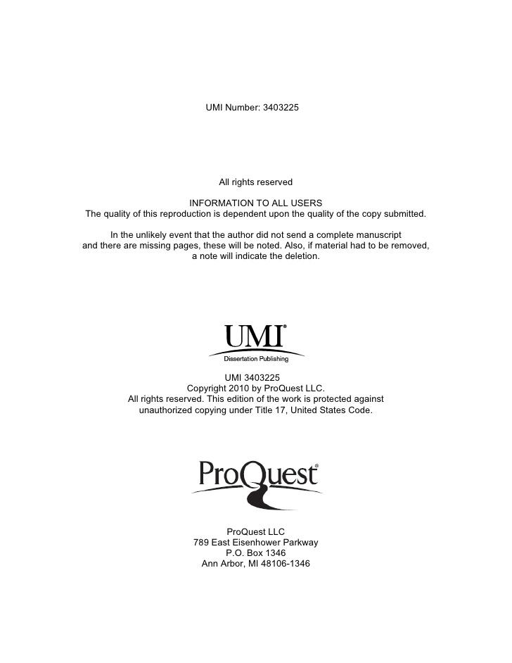 umi dissertation services