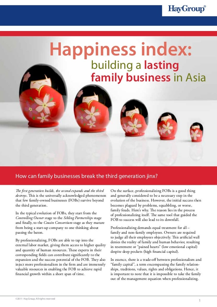 Happiness index:                                                  building a lasting                                      ...