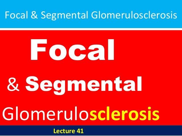 Focal & Segmental Glomerulosclerosis Focal & Segmental Glomerulosclerosis Lecture 41