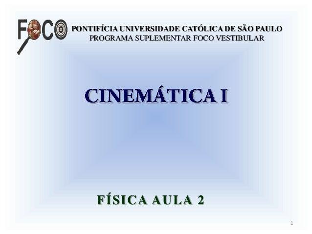 PONTIFÍCIA UNIVERSIDADE CATÓLICA DE SÃO PAULOPROGRAMA SUPLEMENTAR FOCO VESTIBULARFÍSICA AULA 21
