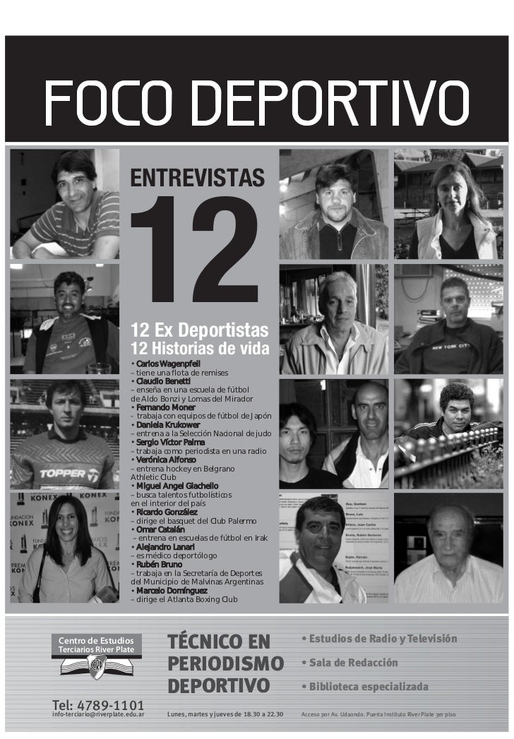 Estudiá Periodismo Deportivo en River: Diario Foco Deportivo 2011