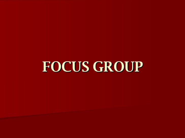 what is focus group discussion in qualitative research