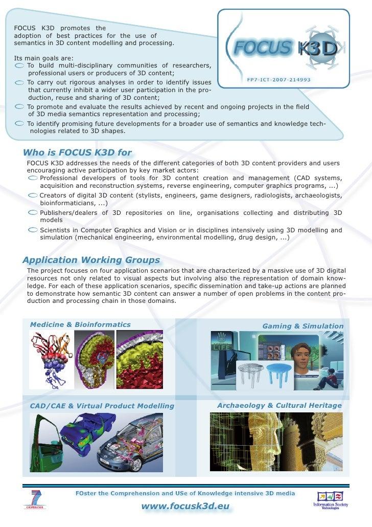 FOCUS K3D Project Flyer