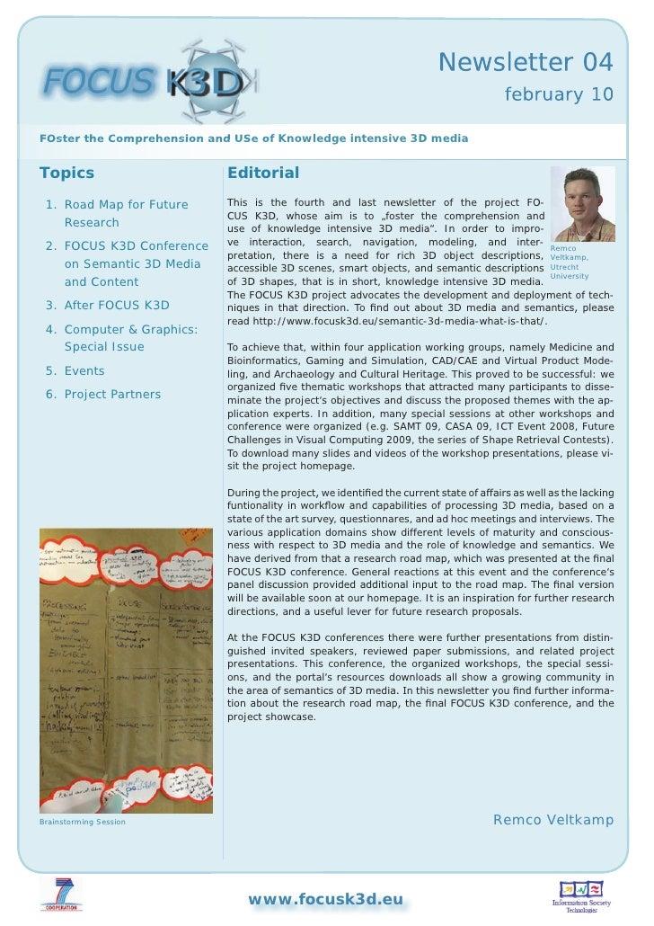 FOCUS K3D Newsletter (Feb 2010)