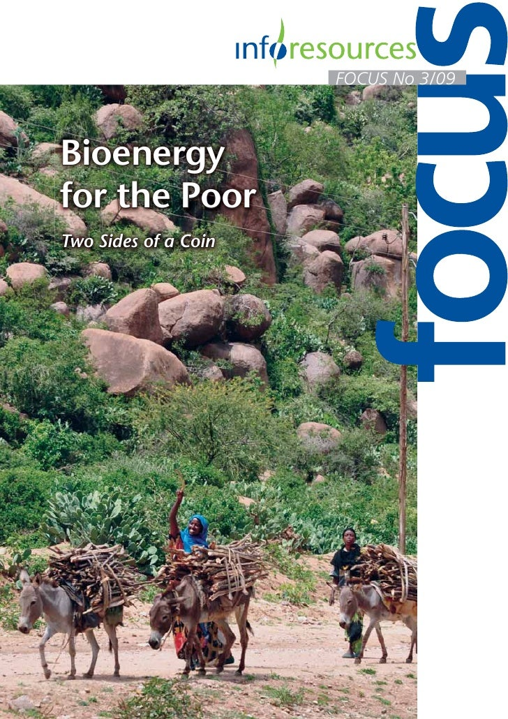 FOCUS No 3/09Bioenergyfor the PoorTwo Sides of a Coin