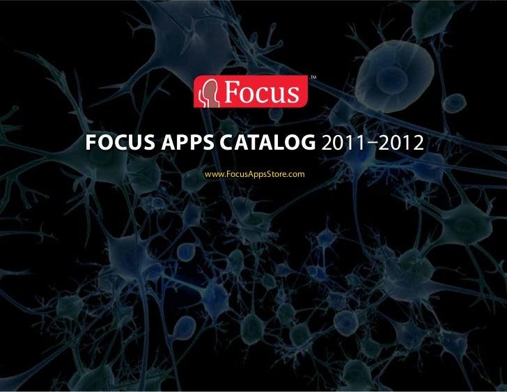 TMfocus apps catalog 2011–2012         www.FocusAppsStore.com