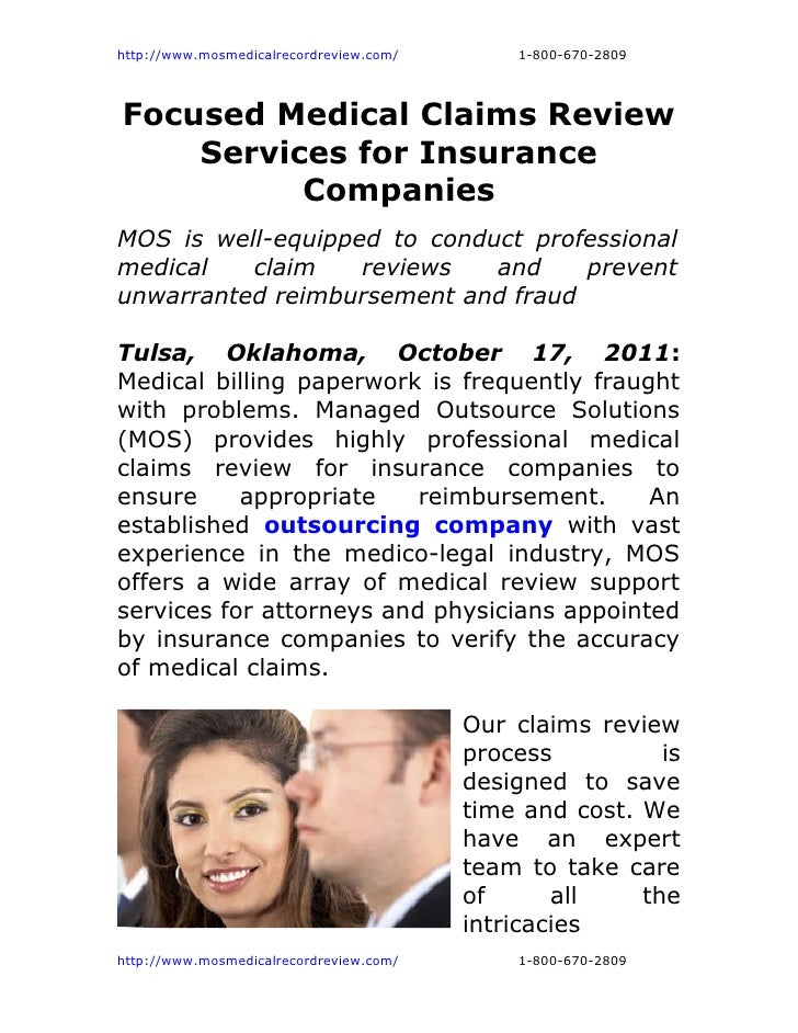 http://www.mosmedicalrecordreview.com/       1-800-670-2809Focused Medical Claims Review    Services for Insurance        ...