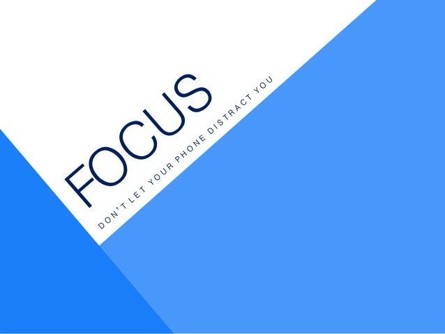 Usability Design: Focus, eliminate distractions