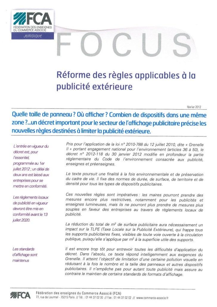 Focus FCA Affichage Publicitaire 02 2012