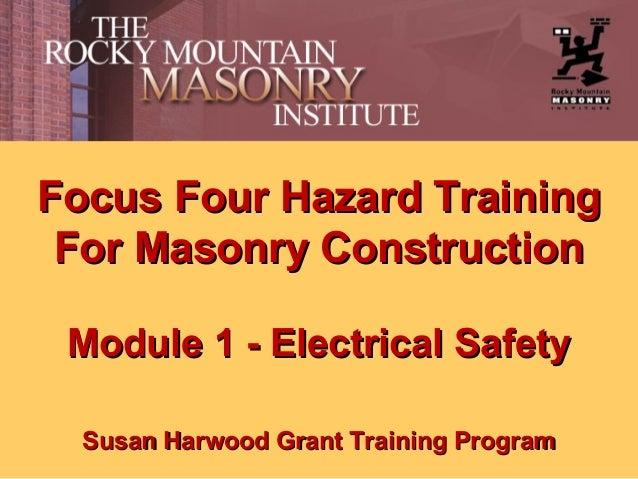 Masonry Electrical Safety Training by Rocky Mountain Masonry Institute